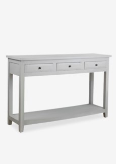 (LS) Promenade painted console table 3 drawers with shelve - grey..(55X16X35)..
