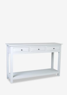 (SP) Promenade painted console table 3 drawers with shelve - grey vintage..(55X16X35)..