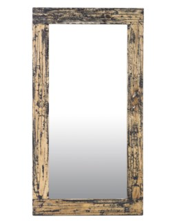 Promenade painted Rectangle mirror - Antique Black(51X28X2)