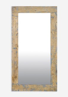 Promenade painted Rectangle mirror - Antique Grey (51X28X2)