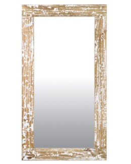 Promenade painted Rectangle mirror - Antique White(51X28X2)