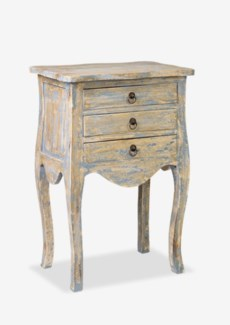 Promenade Painted 3 Drawer Accent Table- Antique Grey(19.75X13.5X29)