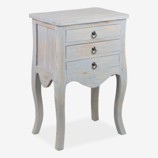 Promenade 3 drawer accent table - grey(19.75X13.5X29)