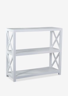 Promenade Open Horizontal Bookcase-White Cloud.47x18x43