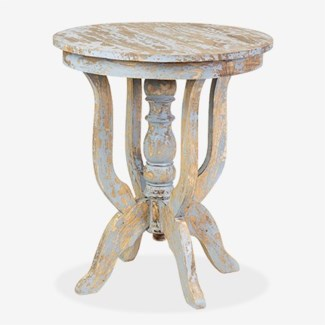 Promenade Round Side table- Antique Grey (24X24X28)