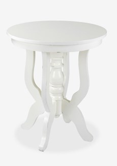 Promenade Round Side Table-White Distressed (24x24x28)