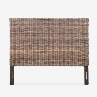 Seascape Driftwood Rattan Headboard (64X2X54)