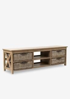 Simone TV Stand (2 Shelves+4 Baskets)-Grey (59X15X18)