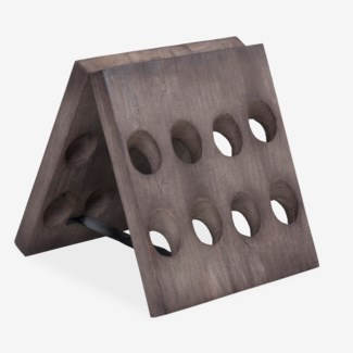 Wooden Folding Wine Rack 16 Bottles (18X18X20)