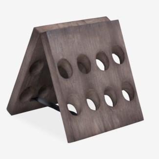 Wooden Folding Wine Rack 16 Bottles (18X18X20)