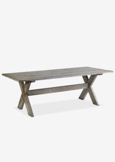 """86"""" Outdoor Solid dining table with cross base - Vintage greyDimension: 86.5X39.25X30"""