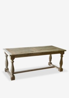 "79"" Windsor Ballister Dining Table with Recyled Teakwood (79x35x31)"