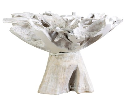 """Natura 47"""" Dining Table W/O Glass top in White (47x47x29.5)"""
