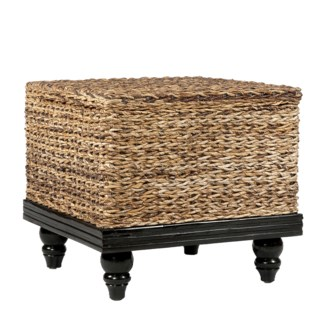 (SP) Tropical End Table Abaca Small Astor w/ Storage (24x24x22)