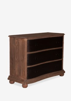Gabriel 3 Drawers Chest With Metal Accents Facade (50x20x36)