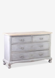 Bordeaux Commode with Reclaimed Teak Top (49x19x33)