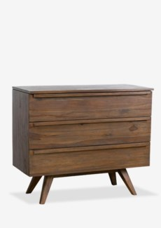 "Gobin 39"" solid teakwood 3 drawers chest(39X18X33.5)"