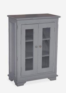 Sevilla Small Cabinet W/Glass - Antq. Dark Grey (25x13x35)