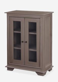 Sevilla Small Cabinet W/Glass - Smoke grey (25x13x35)
