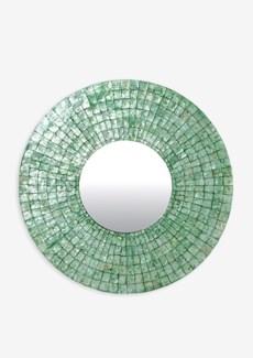 (LS) Cameron Round Mirror L - Green Emerald (35x35x1)