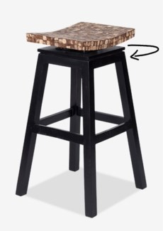 Cordova Bar Stool w/ Coconut top - Natural Bliss (17x17x30)