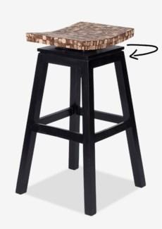 Cordova Bar Stool w/ Coconut top - Natural Bliss (17x17x30)