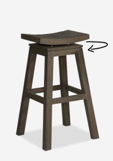 Cordova Barstool with Coconut Tile Top (17x17x30)