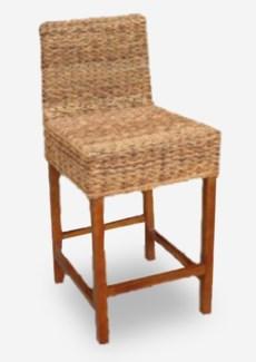 (LS) Lusida Counterstool w/o cushion (min qty 2 ps) (18X19.6X38)