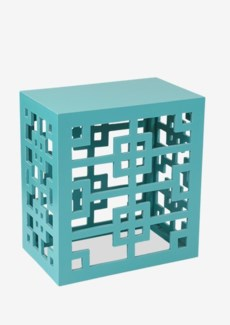 Tatum End Table - Aqua (21.5X14x23.5)