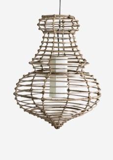 (SP) Sienna Hanging Lamp-L-Kuboo Grey..(20X20X25)..
