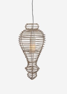(SP) Orinda Hanging Lamp-L-Kuboo Grey..(16X16X34)..