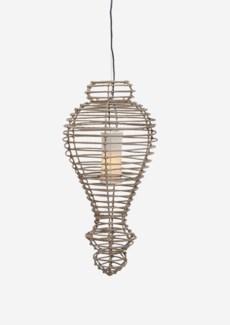 (LS) Orinda Hanging Lamp-L-Kuboo Grey..(16X16X34)..
