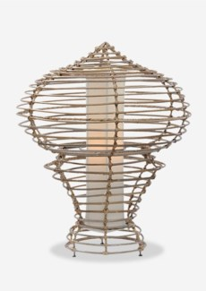 (LS) Sienna Table Lamp-L-Kuboo Grey..(19X19X24.5)..