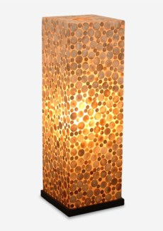 Bubbles decorative floor lamp w/shell accent-M (13x13x37.5)