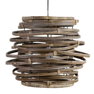 Oceola Drum Hanging Lamp-L-Kuboo Grey(24X24X19)