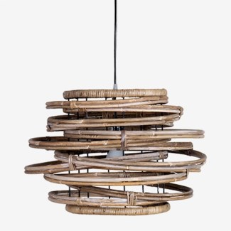 Oceola Drum Hanging Lamp-M-Kuboo Grey (20X20X13)