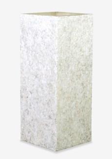 (LS) Viona Square Planter Lamp-Large-White (16X16X40)