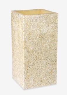 (LS) Viona Square Planter Lamp-Medium-White (16X16X32)