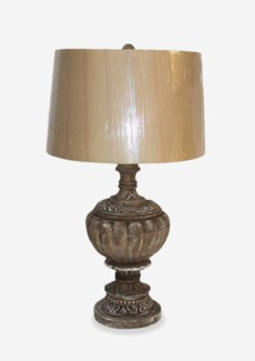 Vintage Finished Hand Carved Wood Vessel Lamp (18x12x31)CBM:0.09Packing:Box K#200+Protection