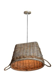 Oval Basket Shape Pendant - 1 bulb Light (22X18X16)