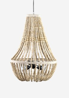 Teardrop Shape Hand Crafted Wood Bead Chandelier with 3 Bulbs (20x20x28)