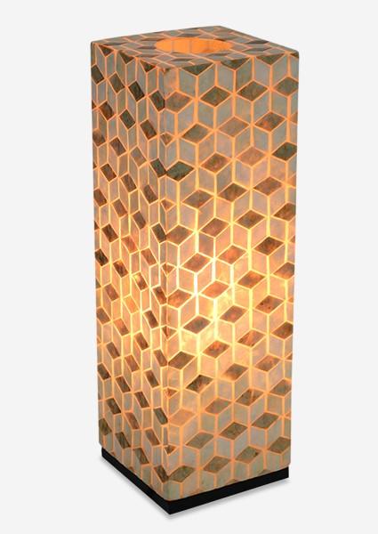 (SP) Stream Capiz Table Lamp Large..(8x8x25).
