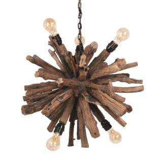 (SP) Natural Abstract Branch Chandelier (24x24x24)
