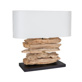 Alder Table Lamp With Oval Shade (8x21.6x23)