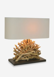 """(SP) 20"""" H Bayside Upcycled Twig Cluster Base Lamp (22x8x20).."""