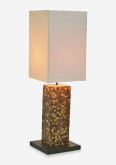 "29"" H Laurent Coco Tiled Base Lamp (9x9x29)"