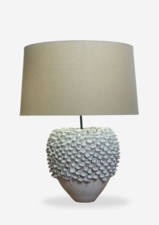 """(LS) 24"""" Seaside Handmade Ceramic Table Lamp with Round Shade (16x18x23).."""" 2 BOXES PER ITEM"""".."""