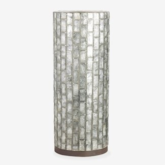 """21"""" H Vertical Capiz Table Lamp - M"""