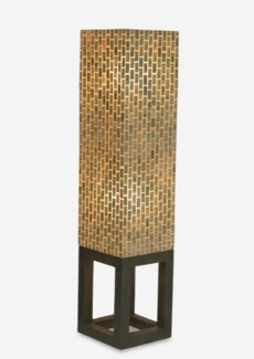 "53"" Grand Wales Capiz Floor Lamp With Open Frame Wood Base - GR (12x12x53)"