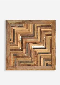 "24"" X 24"" Atlas 3D Chevron Pattern Recycled Wood Mosaic (min 2 pcs) (24x1.5x24)"